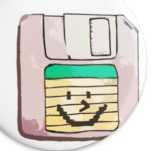 smiley floppy disk - Large Buttons