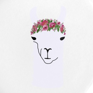 Little Llama in Flower Crown - Large Buttons
