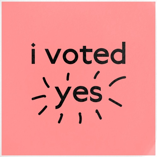I Voted Yes - Buttons large 2.2'' (5-pack)