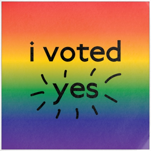 I voted yes! - Buttons large 2.2'' (5-pack)