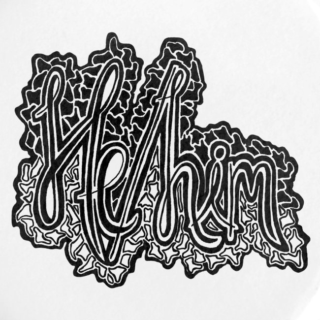 He/Him Cursive Blob - Large