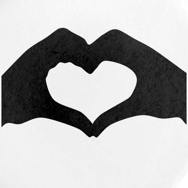 Silhouette Heart Hands | Mousepad