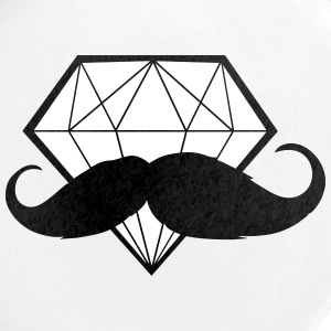 Diamond with Moustache - Hipster - Swag - Large Buttons