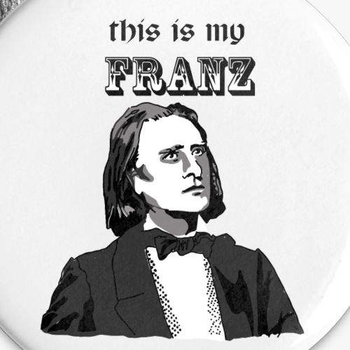 This is my Franz - Buttons large 2.2'' (5-pack)