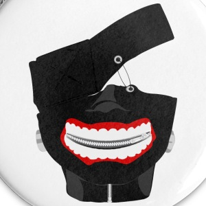 Kaneki Ghoul Mask - Large Buttons