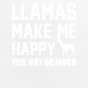 Llamas Make Me Happy You Not So Much Llamas Shirt - Large Buttons