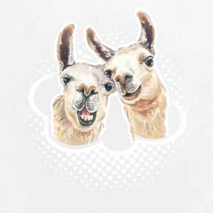 Llama Love Tee & Hoodie - Large Buttons