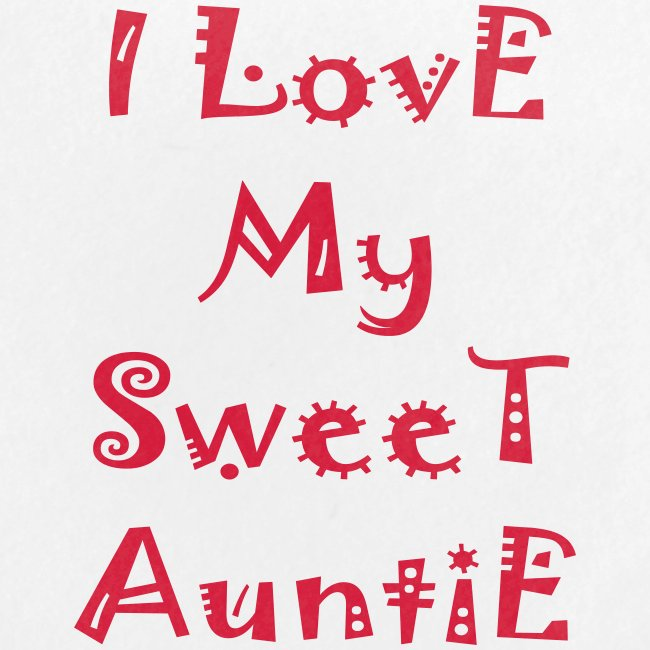 I love my sweet auntie