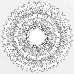 Mandala Ornament. Round Element For Coloring Book - Large Buttons