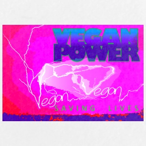 LIGHTNING VEGAN POWER - Large Buttons