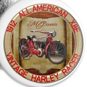 1912-X8E All American Vintage Motorcycle - Large Buttons