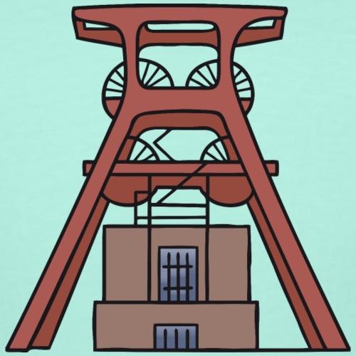 Zollverein Coal Mine Industrial Complex in Essen - Women's Curvy T-Shirt