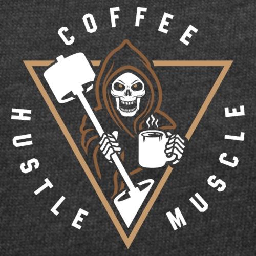 Coffee Hustle Muscle Grim Reaper - Women's Curvy T-Shirt