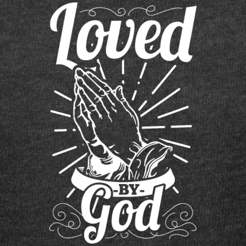Loved By God (White Letters) - Women's Curvy T-Shirt