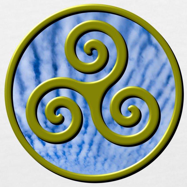 Karma Triskelion Swirl Gold with Clouds