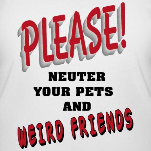 Weird Friends - Women's Curvy T-Shirt