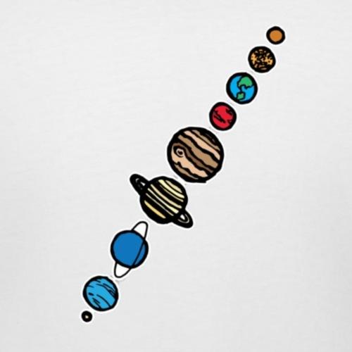 Planets - Women's Curvy T-Shirt