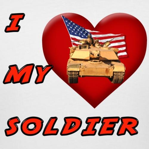 I Heart my Soldier - Women's Curvy T-Shirt