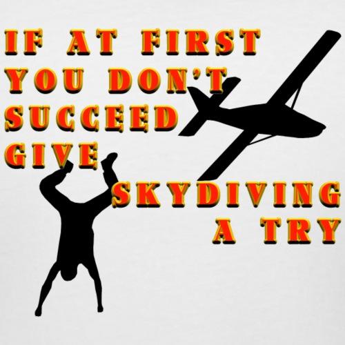 Try Skydiving - Women's Curvy T-Shirt