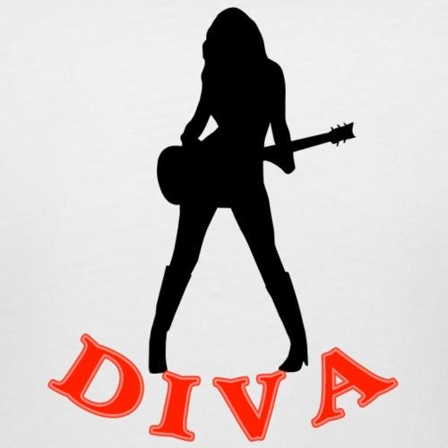 Rock Star Diva - Women's Curvy T-Shirt