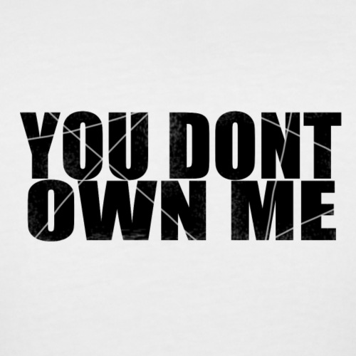 You don't own me black - Women's Curvy T-Shirt