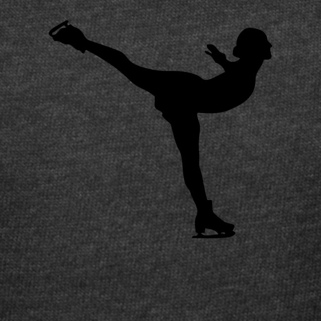 Ice Skating Woman Silhouette
