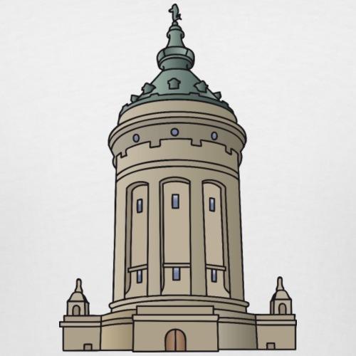 Mannheim water tower - Women's Curvy T-Shirt