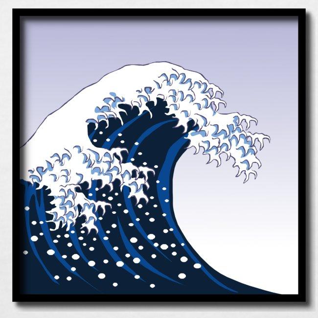 """Woodblock Print """"The Great Wave off Kanagawa"""""""