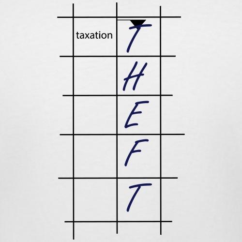 Taxation is Theft Crossword - Women's Curvy T-Shirt