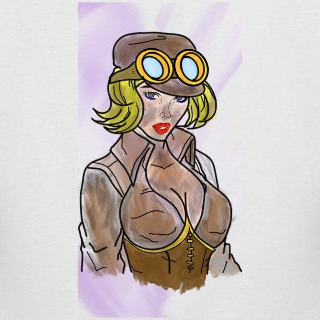 ChaosNConquer Design Logo with Steampunk Girl