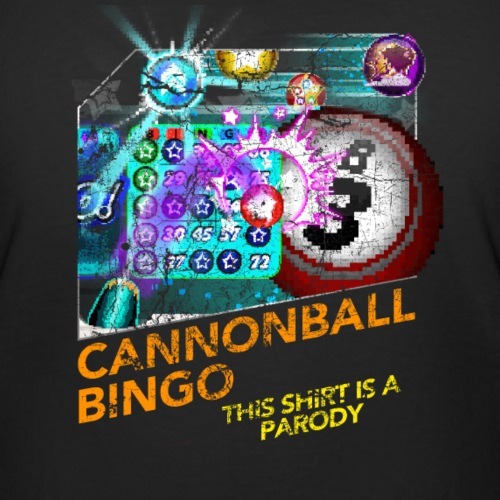 Vintage Cannonball Bingo Box Art Tee - Women's Curvy T-Shirt