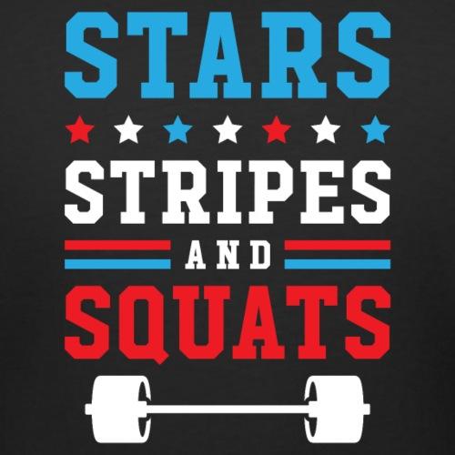 Stars, Stripes And Squats v2 - Women's Curvy T-Shirt
