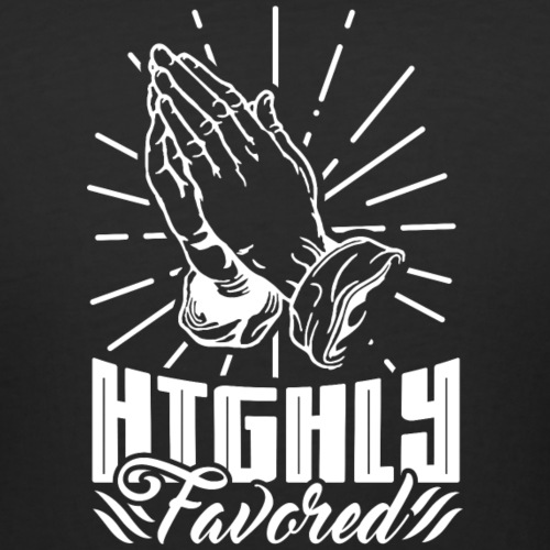 Highly Favored - Alt. Design (White Letters) - Women's Curvy T-Shirt