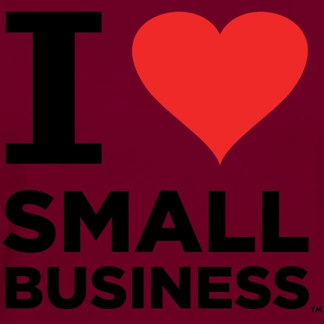 I Heart Small Business (Black & Red)