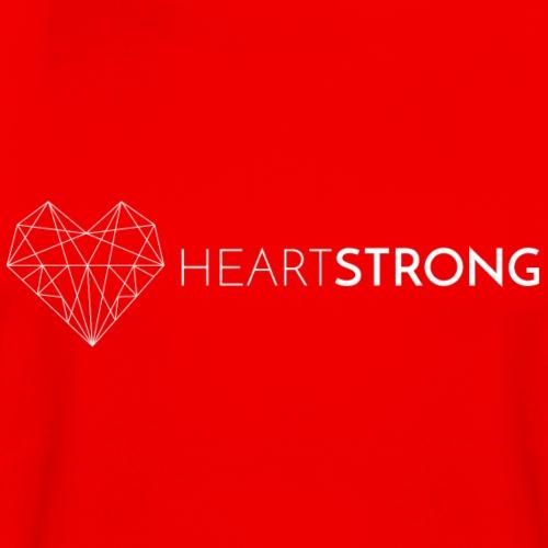 Heartstrong logo (white) - Men's Moisture Wicking Performance T-Shirt
