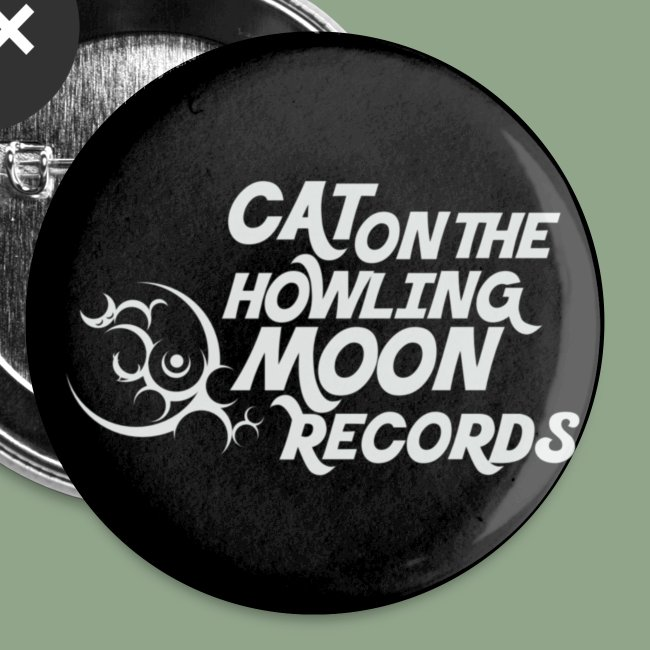 Cat on the Howling Moon logo button