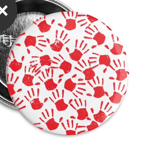 Red Handprints - Buttons small 1'' (5-pack)