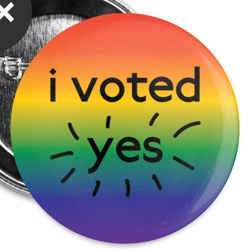 I voted yes! - Buttons small 1'' (5-pack)