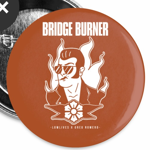 Bridgeburner Orange Button 5-Pack - Small Buttons