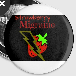 Strawberry Migraine Art - Small Buttons