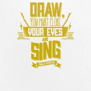 Draw you must close your eyes and sing - Small Buttons