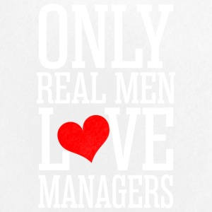 Only Real Men Love Managers - Small Buttons
