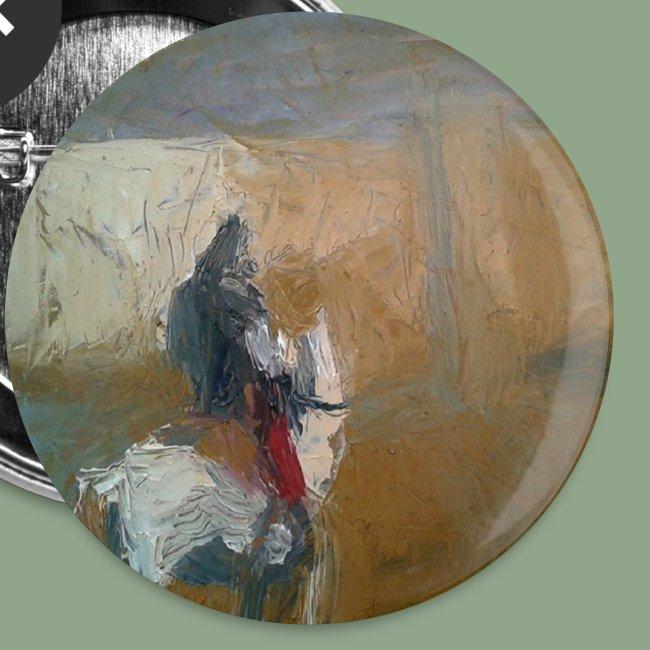 Corvus Coren Mongol Button