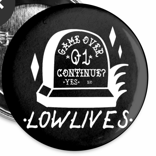 Lowlives Game Over Button 5-Pack - Buttons small 1'' (5-pack)