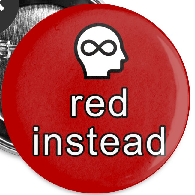 red instead autism acceptance button