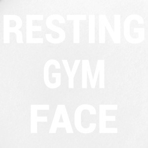 RESTING GYM FACE WHITE - Small Buttons