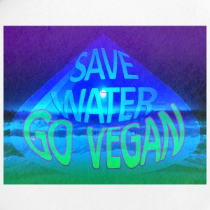 Save water go vegan - Small Buttons