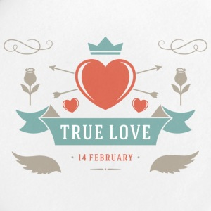 True Love 14 February Valentines Day - Small Buttons