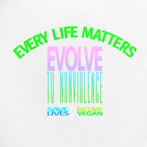 EVERY LIFE MATTERS EVOLVE Go vegan. - Small Buttons