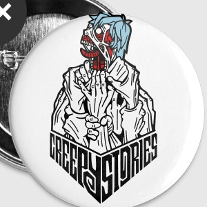 Creepy stories logo - Small Buttons